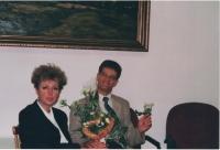 Jan Lachman na MŠMT, oslava narozenin, Praha, 2000
