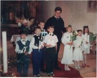 V Boršově nad Vltavou, první svaté přijímání, 1994
