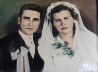 Svatební fotografie s manželkou Marií