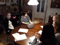 Natáčení s paní Martinkovou