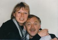 Eva Motyčková a Karel Kryl, Kalifornie, 22. dubna 1989