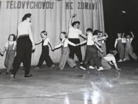 Veřejné vystoupení  TJ Slovan Černá pole, začátek 60. let