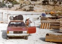 Typický obrázek ze zájezdu české rodiny do Jugoslávie, 1986
