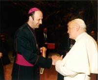 With Pope John Paul II.