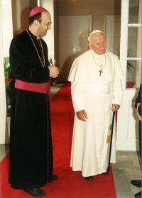 With the pope Jan Pavel II.