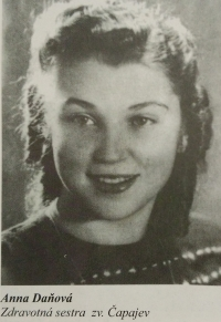 Anna Bergerová at the time when she was working as a nurse in the Čapajev partisan unit