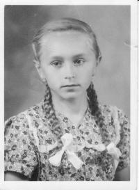 Anna Kováčová ako 14-ročná, 1952