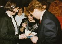 S Jitkou Vodňanskou a Václavem Havlem, Světový kongres rodinné terapie, 1991