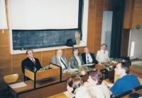 Předávání čestného členství - Vymětal, Břicháček, Hana Junová, Matějček, Srnec