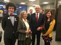 S vnoučaty a profesorem Drahošem