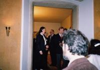 Hana Junová uvádí Václava Havla, Světový kongres rodinné terapie, 1991