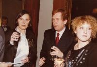 Hana Junová, Václav Havel, Jitka Vodňanská, Světový kongres rodinné terapie, 1991