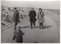 S Alexandrem Dubčekem a dcerou Markétou