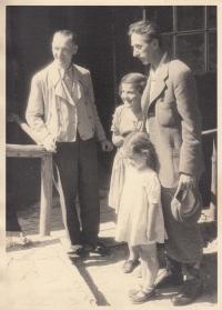 S Jindřichem Plachtou, cca 1942