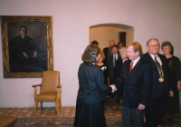 Hana Junová vítá Václava Havla, Světový kongres rodinné terapie, 1991