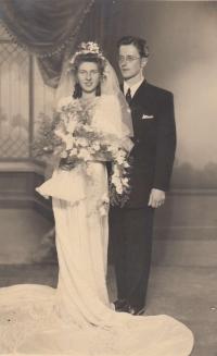 Svatební fotografie, Anna a Zdeněk Bařinovi