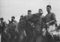 Vystoupení sokolské jízdy na sletu, 5. 7. 1938, foto ČTK