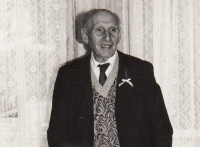 Otec Arnošt (Kohn) Kalenský v roce 1990