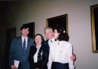 Ministr zdravotnictví Martin Bojar, Hana Junová, Jaromír Juna, Markéta Junová, Světový kongres rodinné terapie, 1991