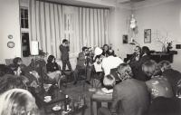 Bytový koncert Souboj s Mistry, kvarteto Hopakaju