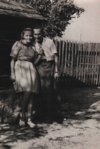 With his wife Olga in late 1940s