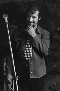 Dobový portrét Josefa Motyčky, polovina 70. let