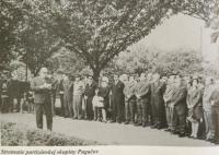 Reunion of witnesses of partisan group Pugačov
