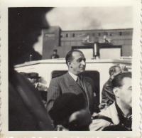 Julius Kalaš, výlet FAMU, červen 1952