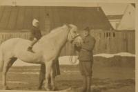 František Humler on a horse as a boy