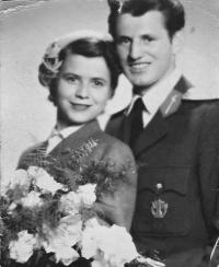Anna a Josef Musilovi, svatební foto, Brno 1953
