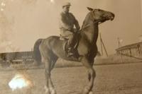 František Humler on a horse