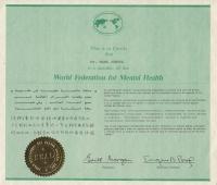 Členství ve World Federation for Mental Health
