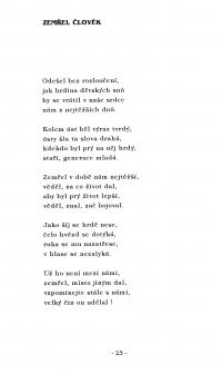 Báseň z pozůstalosti Jana Zajíce, sborník Opava