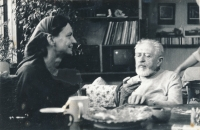 Přítelkyně Veronika Bartošková s otcem Karlem Bartoškem, 1998