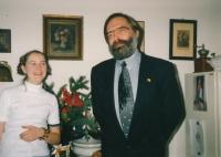 Daughter of the witness Jana Patockova with Jiri Gruntorad, 2005