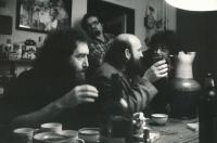At home by Stankovičs, Andrej Stankovič in the middle, late 80's