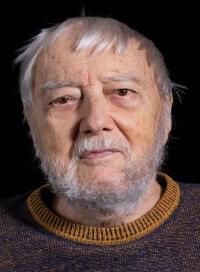 Ladislav Hejdánek při natáčení