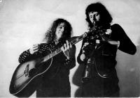 Jesse Ballard a Joe Kučera v Londýně v sedmdesátých letech