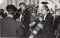 Bytový koncert Souboj s Mistry, kvarteto Hopakaju a Miloš Sádlo