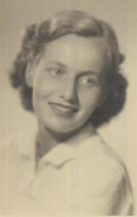Jiřina Jedličková, dobová fotografie
