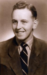 V době vysokoškolských studií, 1949