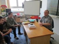 Jaroslav během natáčení pro projekt Příběhy našich sousedů