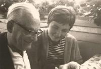 Bad Ragaz, Švýcarsko 1967. Jiřina Nováková s Maxem Brodem