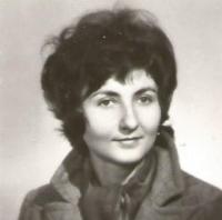 Jiřina Nováková, portrét, asi 1965