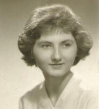 Jiřina Nováková, portrétní foto, Praha asi 1961