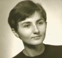 Jiřina Nováková, portrétní foto, Praha 1968