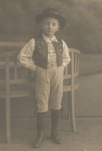 Otakar Hromádko, otec Jiřiny Novákové, Havlíčkův Brod 1914