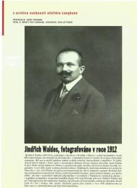 Jindřich Waldes, fotografie z Langhans ateliéru, Praha 1912