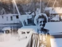 Věra Hromádková, maminka Jiřiny Novákové, Švýcarsko 1982