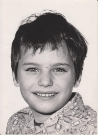 Lukáš Martin at the age of six